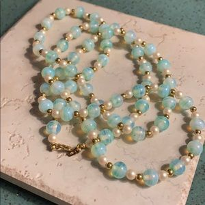 "Vintage Monet 34"" Glass Bead Necklace 💎⭐️💎"